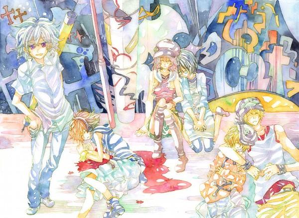 Tags: Anime, Pixiv Id 56712, SQUARE ENIX, Subarashiki Kono Sekai, Shiki Misaki, Yoshiya Kiryu, Mr. Mew, Daisukenojo Bito, Neku Sakuraba, Raimu Bito, The World Ends With You
