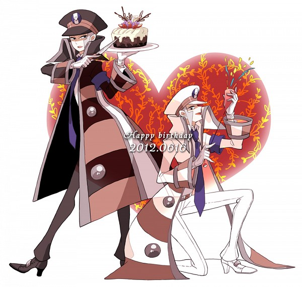 Tags: Anime, Fujichica, Pokémon, Kudari, Nobori, Sideburns, Purple Neckwear, Fanart From Pixiv, Pixiv, Fanart, Subway Masters