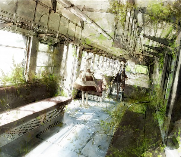 Tags: Anime, Pokémon, Nobori, Kudari, Moth, Overgrown, Train Interior, Subway Masters