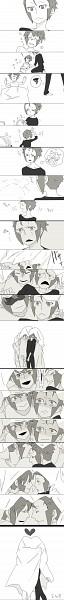 Tags: Anime, Pokémon, Nobori, Kudari, Twincest, Artist Request, Fanart, Doujinshi Page, Pixiv, Scan, Subway Masters
