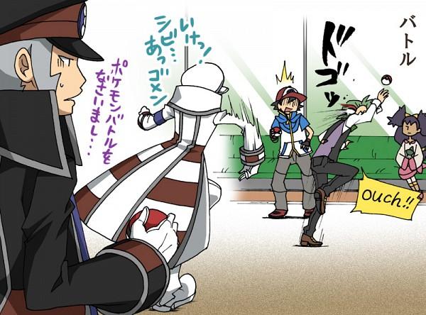 Tags: Anime, Pixiv Id 3286183, Pokémon, Dento (Pokémon), Satoshi (Pokémon), Nobori, Kudari, Iris (Pokémon), Subway Masters