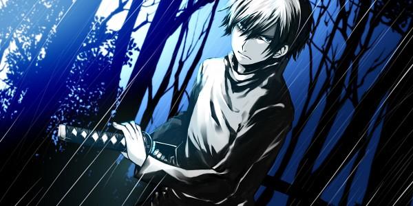 Tags: Anime, Pixiv Id 1449576, Kirisame ga Furu Mori, Suga Kotaro, Pixiv, Facebook Cover, Wallpaper