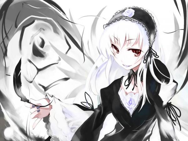 Tags: Anime, Ushiki Yoshitaka, Rozen Maiden, Suigintou, Fanart, Wallpaper