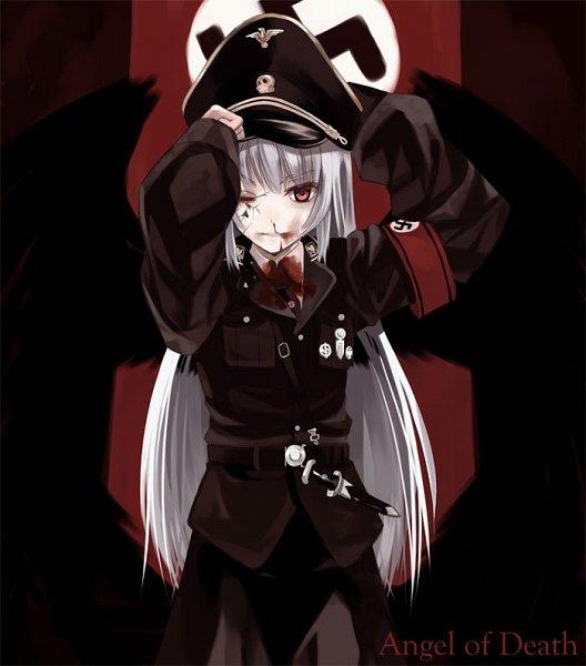 Tags: Anime, Kabocha, Rozen Maiden, Suigintou, Swastika, Fanart
