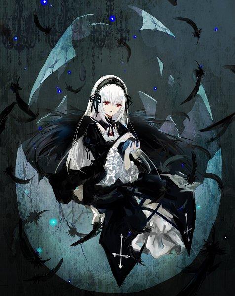 Tags: Anime, Pixiv Id 4611153, Rozen Maiden, Suigintou, Mobile Wallpaper, Fanart, Fanart From Pixiv, Pixiv