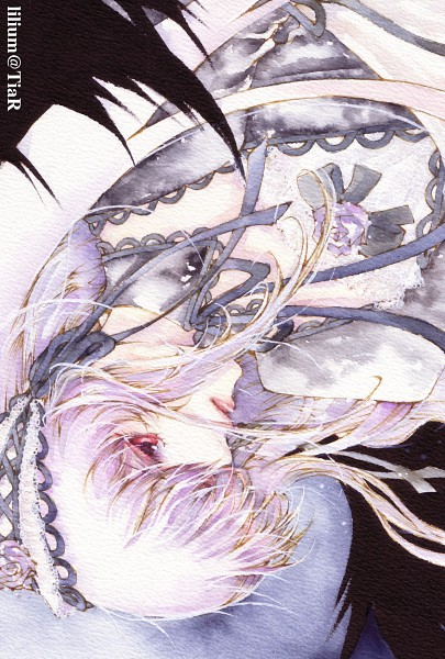 Tags: Anime, Umu, Rozen Maiden, Suigintou, Watercolor, Fanart, Traditional Media, Pixiv, Mobile Wallpaper