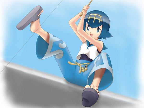 Tags: Anime, Pixiv Id 5332993, Pokémon Sun & Moon, Pokémon, Suiren (Pokémon), Fishing, Fishing Rod, Rod, Fanart, Pixiv, Wallpaper, Fanart From Pixiv