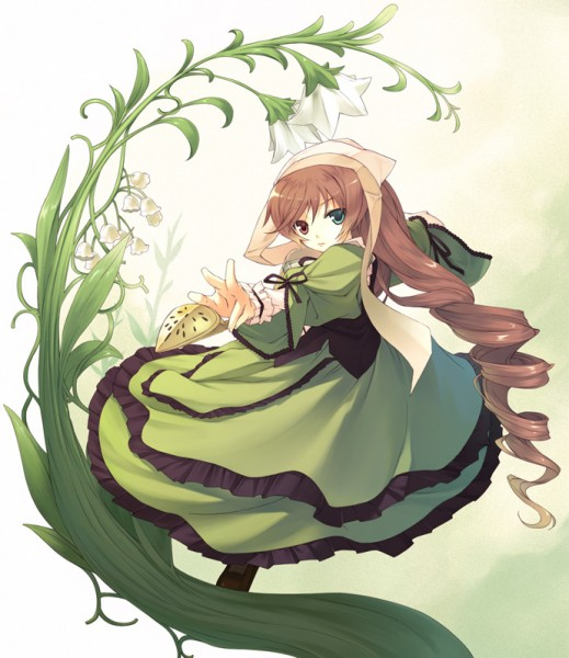 Tags: Anime, Shiranagi Masa, Rozen Maiden, Suiseiseki, Lily Of The Valley, Watering Can, Fanart
