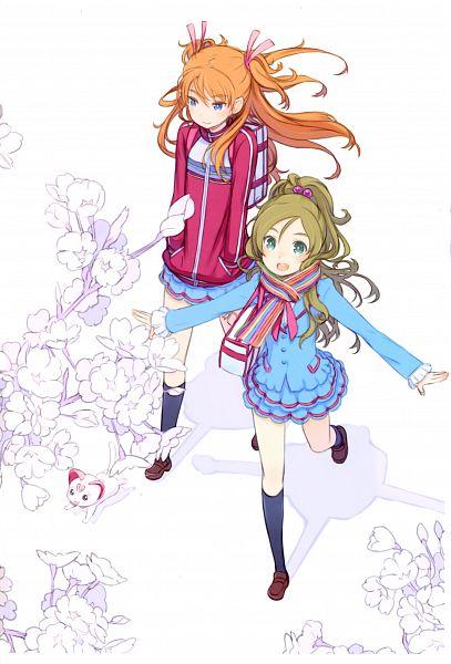 Tags: Anime, Kuroboshi Kouhaku, Suite Precure♪, GRANADA LEVEL P, Hummy, Minamino Kanade, Hojo Hibiki, Scan, Mobile Wallpaper