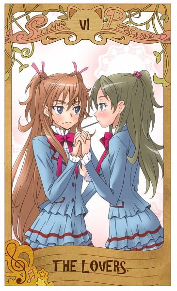 Tags: Anime, Eunos, Suite Precure♪, Minamino Kanade, Hojo Hibiki, The Lovers, Art Nouveau, Fanart, Fanart From Pixiv, Pixiv