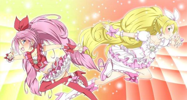 Tags: Anime, Yuto (Artist), Suite Precure♪, Hojo Hibiki, Cure Rhythm, Cure Melody, Minamino Kanade