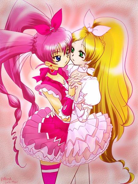Tags: Anime, Kasuga Ruri, Suite Precure♪, Hojo Hibiki, Cure Rhythm, Cure Melody, Minamino Kanade, Pixiv, Wallpaper, Fanart, Fanart From Pixiv
