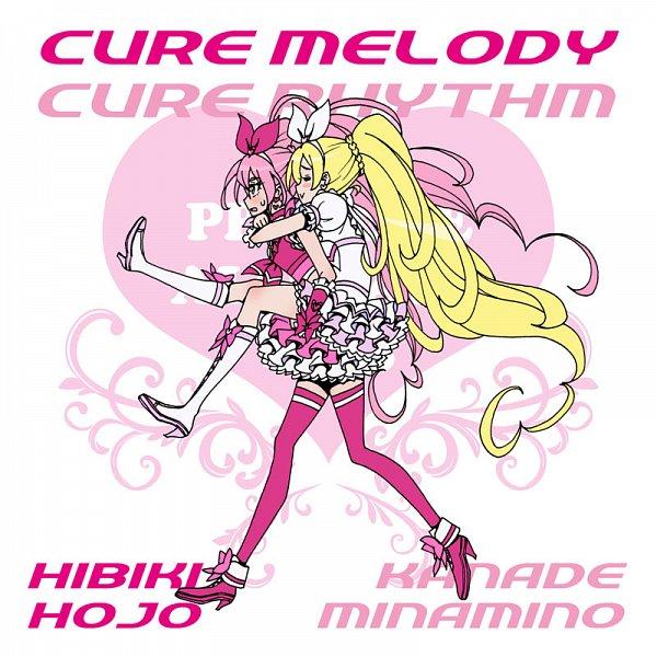 Tags: Anime, Eunos, Suite Precure♪, Cure Melody, Minamino Kanade, Hojo Hibiki, Cure Rhythm, Fanart From Pixiv, Pixiv, Fanart