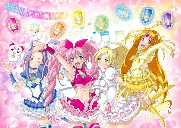 Tags: Anime, Eunos, Suite Precure♪, Kurokawa Eren, Cure Rhythm, Fari (Suite Precure), Cure Beat, Shiri (Suite Precure), Cure Melody, Cure Muse, Hummy, Lali (Suite Precure), Reri (Suite Precure)