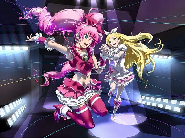 Tags: Anime, Pixiv Id 2876, Suite Precure♪, Cure Rhythm, Cure Melody, Minamino Kanade, Hojo Hibiki, Fanart, Fanart From Pixiv, Pixiv
