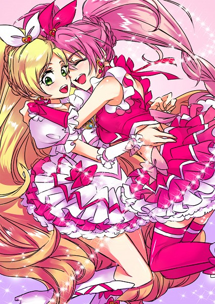 Tags: Anime, Pixiv Id 3142344, Suite Precure♪, Minamino Kanade, Hojo Hibiki, Cure Rhythm, Cure Melody, Hug Neck