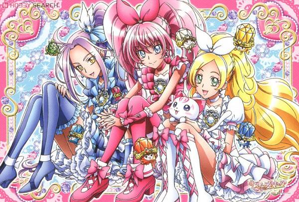 Tags: Anime, Suite Precure♪, Minamino Kanade, Hojo Hibiki, Kurokawa Eren, Cure Rhythm, Cure Beat, Cure Melody, Hummy, Card (Source)