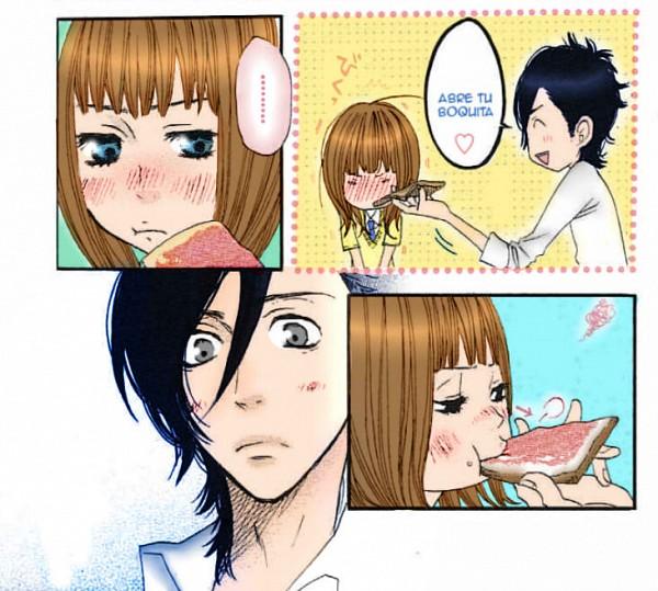Tags: Anime, Suki-tte Ii na yo., Tachibana Mei, Kurosawa Yamato, Spanish Text, Eyes Half Closed, Translated, Colorization, Say