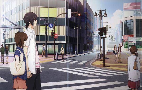Tags: Anime, ZEXCS, Suki-tte Ii na yo., Mutou Aiko, Kurosawa Yamato, Tachibana Mei, Crosswalk, Scan, Official Art, Say