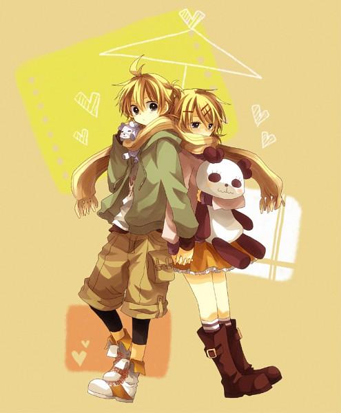 Tags: Anime, An (Pixiv1170947), VOCALOID, Kagamine Len, Kagamine Rin, Ai-Ai Gasa, Fanart, Pixiv, Suki Kirai, Kagamine Mirrors, Like Dislike