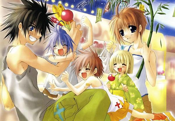 Tags: Anime, Tsutae Yuzu, Suki na Mono wa Suki Dakara Shouganai!!, Nanami Kai, Fujimori Sunao, Hashiba Sora, Honjou Matsuri, Minato Shinichirou, Candy Apple, Festival, Scan, Sukisho