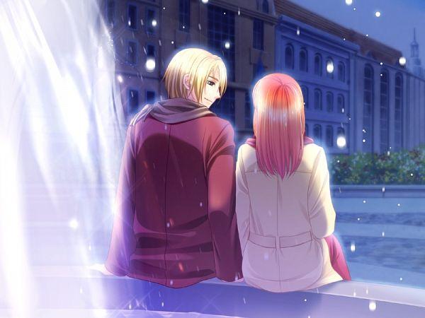 Tags: Anime, Mirai-soft, Sumire no Tsubomi, Hayasaka Satsuki (Sumire no Tsubomi), Yuki (Sumire no Tsubomi), Fountain, CG Art