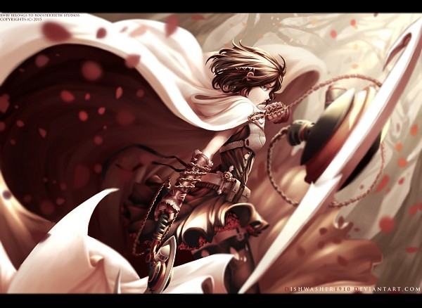 Tags: Anime, dishwasher1910, RWBY, Summer Rose, Torn Thigh Highs, deviantART, Pixiv, Fanart From DeviantART, Fanart, Fanart From Pixiv, PNG Conversion