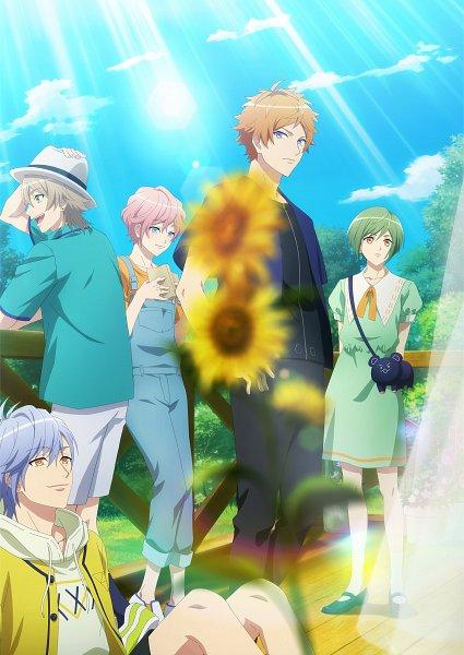 Tags: Anime, Komatsu Mariko, Studio 3Hz, P.A. Works, A3!, Sakisaka Muku, Ikaruga Misumi, Miyoshi Kazunari, Sumeragi Tenma, Rurikawa Yuki, Fedora, Motion Blur, Official Art