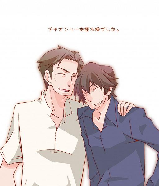Tags: Anime, Pixiv Id 1811060, Summer Wars, Jinnouchi Wabisuke, Jinnouchi Riichi, Fanart From Pixiv, Pixiv, Fanart