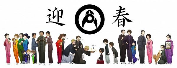 Tags: Anime, Yumi (Tuzisaka), Summer Wars, Jinnouchi Riichi, Ikezawa Kazuma, Jinnouchi Shota, Jinnouchi Sakae, Koiso Kenji, Jinnouchi Mansuke, Jinnouchi Wabisuke, Jinnouchi Nana, Shinohara Natsuki, Fanart