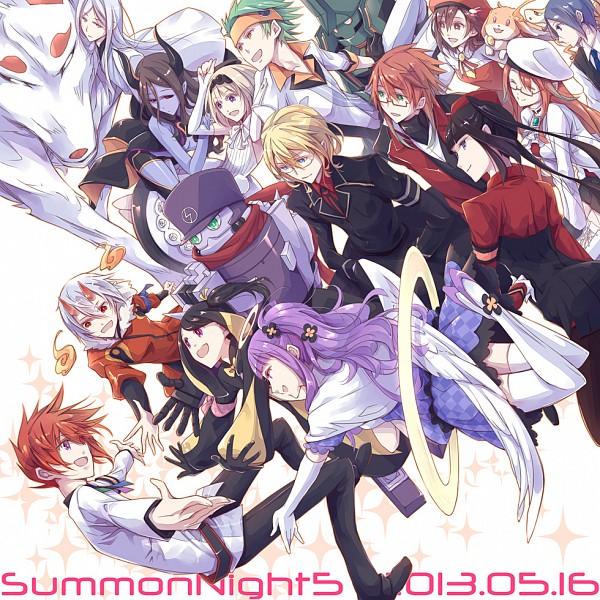 Tags: Anime, Yuki (Port Fairy), Summon Night 5, Summon Night, Souken, Yeng-hua, Pariet, Dyth, Kagerou (Summon Night), Primo (Summon Night 5), Abert, Noirarm Calis, Rexx