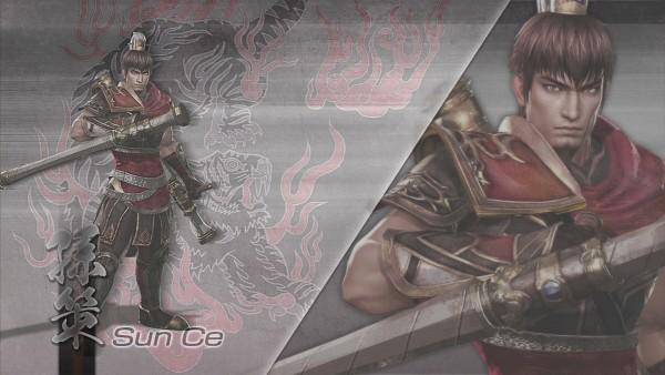 Tags: Anime, Dynasty Warriors, Sun Ce, Tonfa, Wallpaper, HD Wallpaper