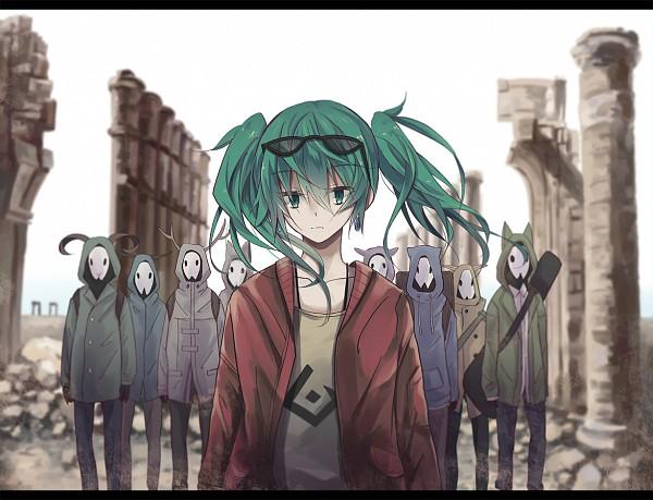 Tags: Anime, Pixiv Id 3356092, VOCALOID, Hatsune Miku, Fanart, Fanart From Pixiv, Pixiv, Suna no Wakusei, Magical Mirai