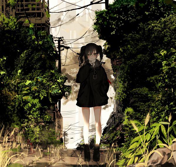 Tags: Anime, Naruwe, THE iDOLM@STER: Cinderella Girls, Sunazuka Akira, Holding Mask, Wheat, Medical Mask, Utility Pole, Power Lines, Fanart From Pixiv, Fanart, Pixiv