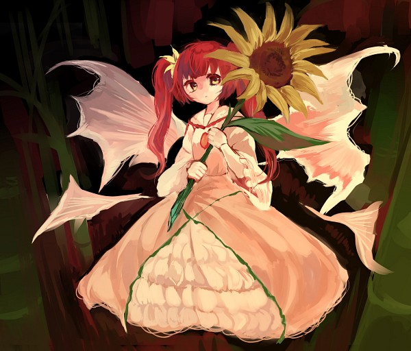 Tags: Anime, Pixiv Id 6647344, Touhou, Sunflower Fairy, PNG Conversion, Pixiv, Fanart From Pixiv, Fanart