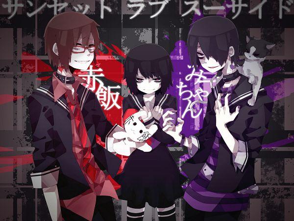 Tags: Anime, Sidu, Mi-chan, Nyaahan, Sekihan, Nana-chan (Cat), Nico Nico Douga, Sunset Love Suicide, Nico Nico Singer, PNG Conversion, Pixiv