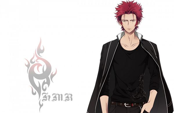 Tags: Anime, IDEA FACTORY, K Project, Gakuen K -Wonderful School Days-, Suoh Mikoto, Official Art, PNG Conversion