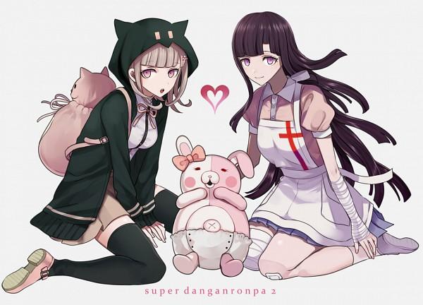 Tags: Anime, Harano, Super Danganronpa 2, Nanami Chiaki, Tsumiki Mikan, Monomi (Super Danganronpa 2), Fanart, Fanart From Pixiv, Pixiv
