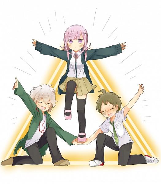 Tags: Anime, Pixiv Id 793225, Super Danganronpa 2, Hinata Hajime, Nanami Chiaki, Komaeda Nagito