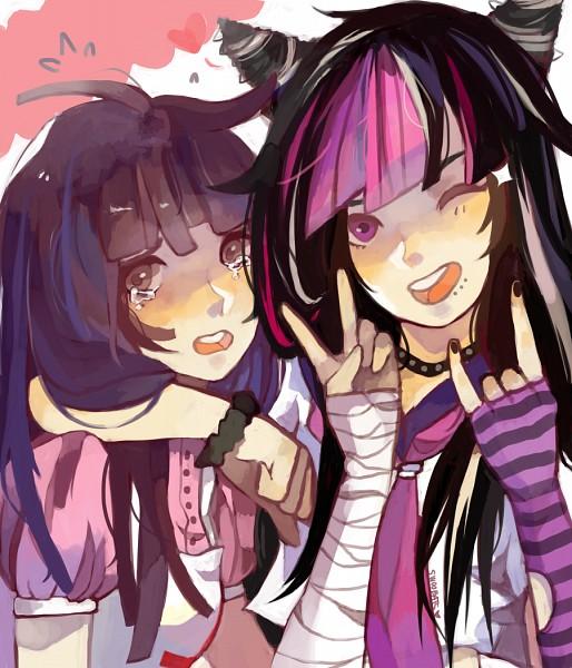 Tags: Anime, Lochnessa, Super Danganronpa 2, Mioda Ibuki, Tsumiki Mikan, deviantART, Fanart