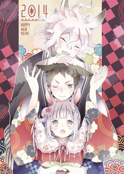 Tags: Anime, Iku2727, Super Danganronpa 2, Nanami Chiaki, Komaeda Nagito, Hinata Hajime, Mobile Wallpaper, Happy 2014
