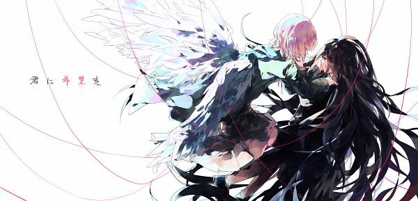 Tags: Anime, Pixiv Id 3723954, Super Danganronpa 2, Nanami Chiaki, Kamukura Izuru, Facebook Cover, Fanart From Pixiv, Pixiv, Fanart