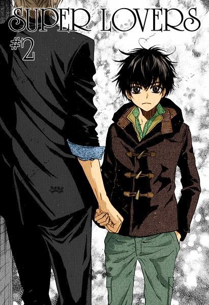 Tags: Anime, Abe Miyuki, Super Lovers, Kaidou Ren, Kaidou Haru, Mobile Wallpaper, Colorization