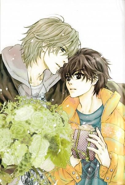 Tags: Anime, Abe Miyuki, Super Lovers, Kaidou Haru, Kaidou Ren, Mobile Wallpaper, Official Art, Scan