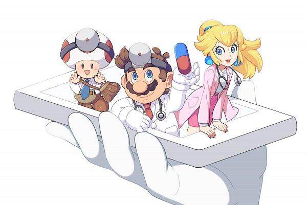 Tags: Anime, Hosinoirie, Super Mario Bros., Mario (Character), Princess Peach, Toad, Dr. Peach