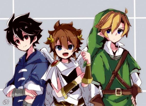 Tags: Anime, Meiwari, Super Smash Bros., Zelda no Densetsu, Kid Icarus, Warioware, Young Cricket, Link, Pit