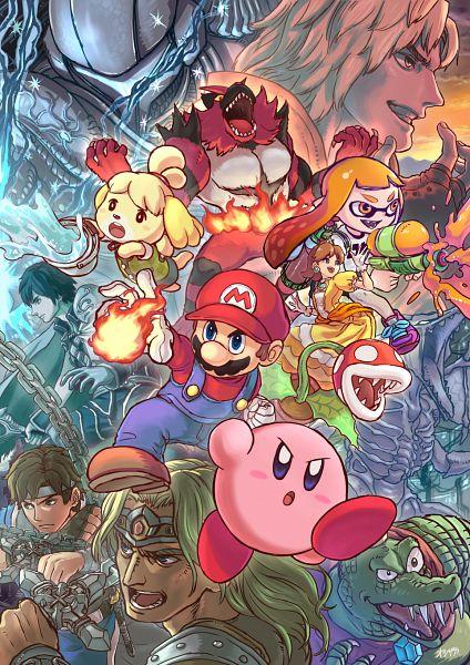 Tags: Anime, Pixiv Id 12237598, Super Mario Bros., Super Smash Bros., Fire Emblem: Kakusei, Splatoon, Kirby Series, Doubutsu no Mori, Pokémon, Street Fighter, Metroid, Incineroar, Simon Belmont