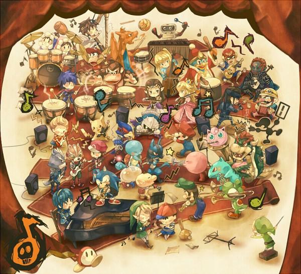Tags: Anime, Petit Comet, Super Smash Bros., Sonic the Hedgehog (Character), Wario, Kirby, Popo (Ice Climber), Lucario, Ness, Pikmin (character), Mario (Character), Ike, Pikachu