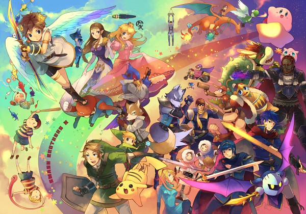 Tags: Anime, Hano, Super Smash Bros., Link, Lucario, King Dedede, Squirtle, Marth (Fire Emblem), Popo (Ice Climber), Sonic the Hedgehog (Character), Charizard, Diddy Kong, Ganondorf