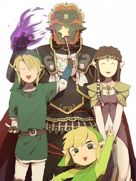 Tags: Anime, Gabukichi, Super Smash Bros., Toon Link, Princess Zelda, Link, Ganondorf, Fanart, Fanart From Pixiv, Pixiv
